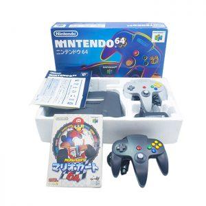 Consola Gris + Mario Kart en caja – Nintendo 64